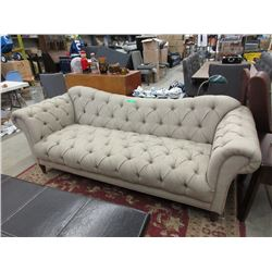"New Home Elegance 93"" Button Tufted Sofa"
