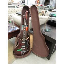 Pan Electric Guitar with Case, Strap & Strings