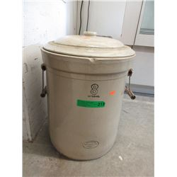 8 Imperial Gallon Medalta Crock with Lid