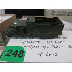1960s Midge Toy Die-Cast US Army Transport Truck