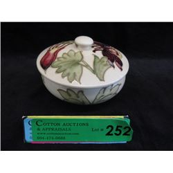 Moorcroft Columbine Lidded Bowl