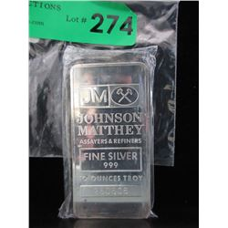 10 Oz. Johnson Matthey .999 Silver Bar