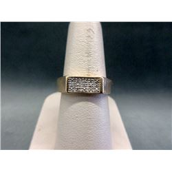 10KT Yellow Gold Mans Diamond Ring
