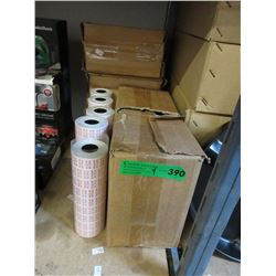 "5 Rolls & 4 Cases of ""Best Before"" Tagging Gun Tape"