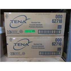 2 Cases of Tena Absorbent Pads