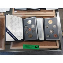 2 Canadian Mint Specimen Coin Sets - 1996 & 1997