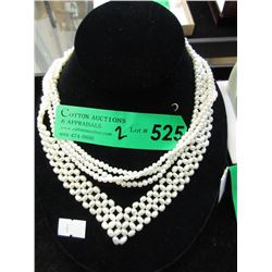 Two New Pearl Necklace - 1 Woven & 1 Triple Strand
