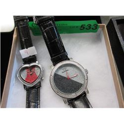 Two His & Hers Diamond-Set Watches