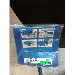 "2 New 10 Foot x 12"" Blue Poly Tarps"