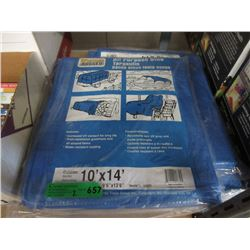 2 New 10 Foot  x 14 Foot Blue Poly Tarps