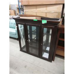 New Illuminated China Cabinet Top - Glass Doors
