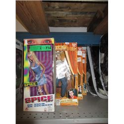 3 NSYNC & 1 Spice Girls Dolls
