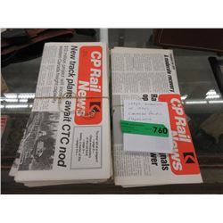 Large Quantity of 1970s CP Rail Magazines