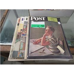 7 Vintage Post Magazines from the '40s & '50s