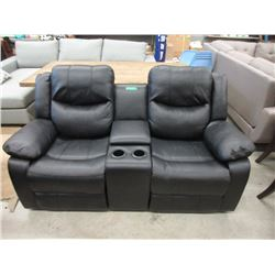 New Leather Double Reclining Theater Style Sofa