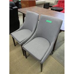 Pair of New Grey Side Chairs