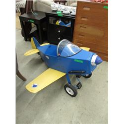 Large Children's Airplane Pedal Car