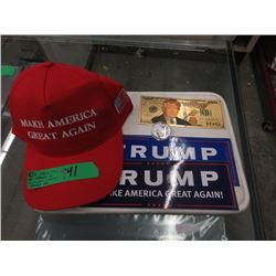 5 Piece Donald Trump Memorabilia Lot