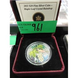 2011 Colourized Canadian Fine Silver $20 Coin