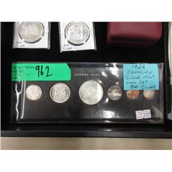 1966 Canadian Mint Coin Set w/.800 Silver Coins