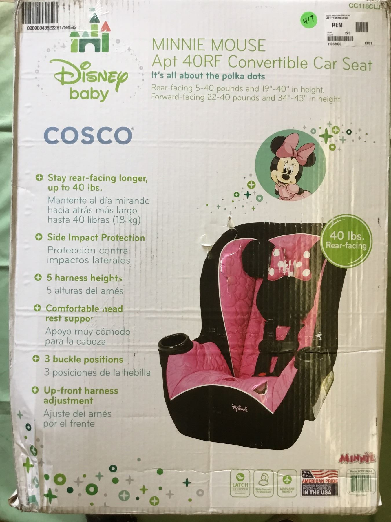 Image 1 Cosco Minnie Mouse Car Seat