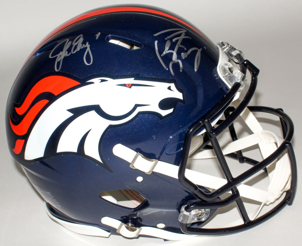 Image 1   John Elway Peyton Manning Signed Broncos Full-Size Authentic  On-Field a0177416d