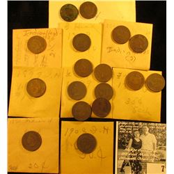 (15) Various Date Indian Head Cents in manilla envelopes.