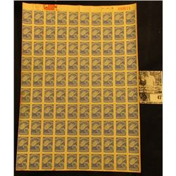 Complete Sheet of Unused West Virginia Liquor Control Commission Stamps. Pre Prohibition, I believe!