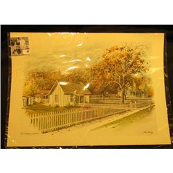 "12"" x 17"" Color print ""Herbert Hoover Birthplace West Branch, Iowa"" by Stan Haring."