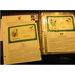 """Notebook containing (15) Different """"Endangered Species"""" First Day Covers."""
