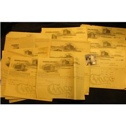 """Large group of early 1900 era Invoices with architectural vignettes from """"Smith, Lighty and Hillman"""