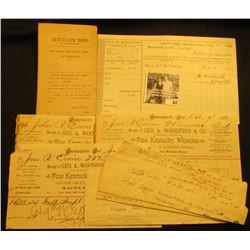 """Couple of old Carberry Notes on tokens; several 1877-1890 Invoices including one from the """"Collector"""