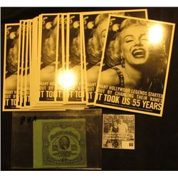 """Group of (20) """"Permanent Charities"""" Post Cards depicting Marilyn Monroe, All mint condition; & 12 1/"""