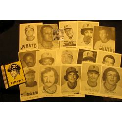 (15) Different autographed Pittsburg Pirates Photos plus a Sticker, all Mint condition.