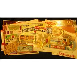 Group of (55) Cigar Box labels, many of which 'Doc' sold for up to $20 each.  All appear to be diffe