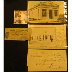 """June 9th, 1870 letter on letter head """"Agency of The Bank of California Office of Lees & Waller, 33 P"""