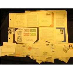 Nice group of both U.S. and Foreign Stamps including Covers with literature and much more.