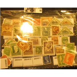 Nice group of what appears to be mostly mint, unused Austrian Stamps in a Stamp Collector's stock pa