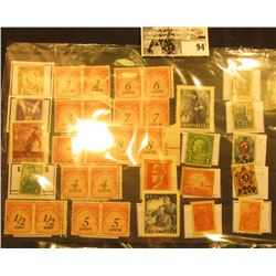 Nice selection of Mint, unused Postage Due Stamps, as well as a Taft, and a variety of Russian Stamp