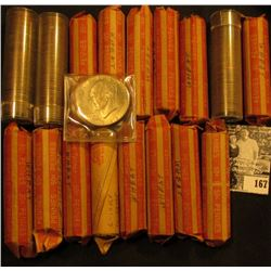 (17) Mixed Date Rolls of Old U.S. Lincoln Cents; & 1976 P Type II BU Eisenhower Dollar.