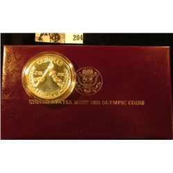 1988 S U.S. Olympics Silver Commemorative Dollar in original box as issued.