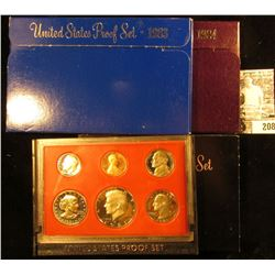 1981 S, 1983 S, & 1984 S U.S. Proof Sets, all in original boxes as issued.