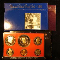 1979 S, 1983 S, & 1984 S U.S. Proof Sets, all in original boxes as issued.