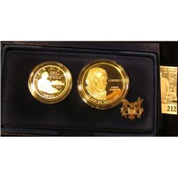 """1993 """"Bill of Rights Commemorative Coins Two-Coin Proof Set. Original as issued."""