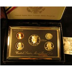 1995 United States Mint Premier Silver Proof Set in original box as issued.