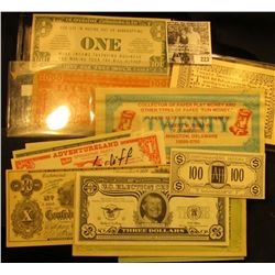 """(15) Different pieces of Satirical, Political, or Advertising """"Spoof"""" Money."""