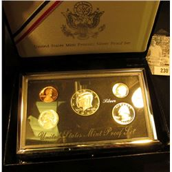 1992 United States Mint Premier Silver Proof Set in original box as issued.