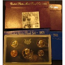 1971S, 1983S, 1989S, & 1992S U.S. Proof Sets. All original as issued.
