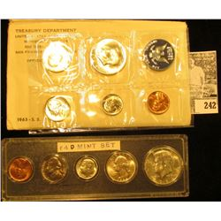 1964 S Gem BU Year Set in a Snaptight case & 1965 U.S. Special Mint Set in original envelope as issu