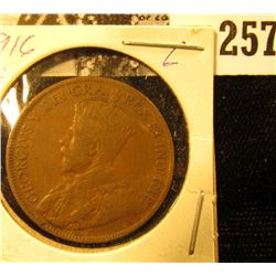1916 Canada Large Cent, Fine.